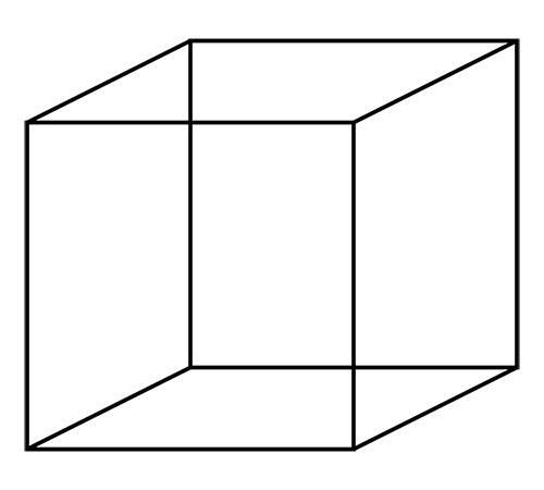 Cubo di Necker Illusioni Ottiche