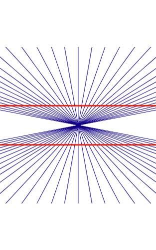 immagini di illusioni Hering