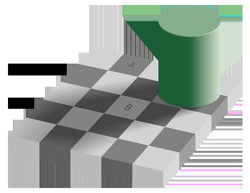 Scacchiera di Adelson illusioni colori