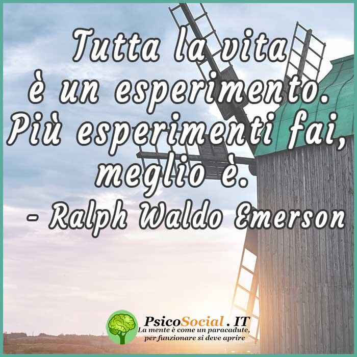 Frasi tutta la vita Emerson
